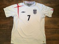 Classic Football Shirts | 2005 England Vintage Old Soccer Jersey